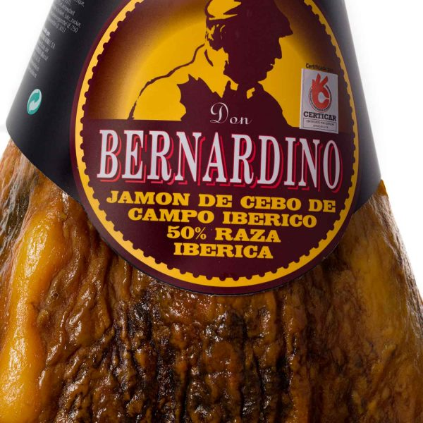 comprar-online-jamon-con-pata-serrano-iberico-de-cebo-don bernardino-www.donbernardino.es